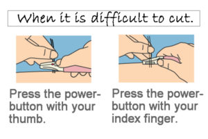 The outside is processed short and long toward the center. If you have difficulty, please change how you hold it.
